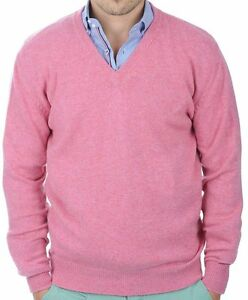 ausschnitt 100 Balldiri Rosa Cashmere 4 Xs Herren fädig Pullover V BwFX1