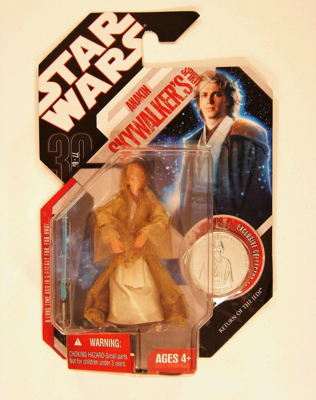 Hasbro Star Wars 30TH Aniversario Anakin Skywalker's espíritu figura con moneda