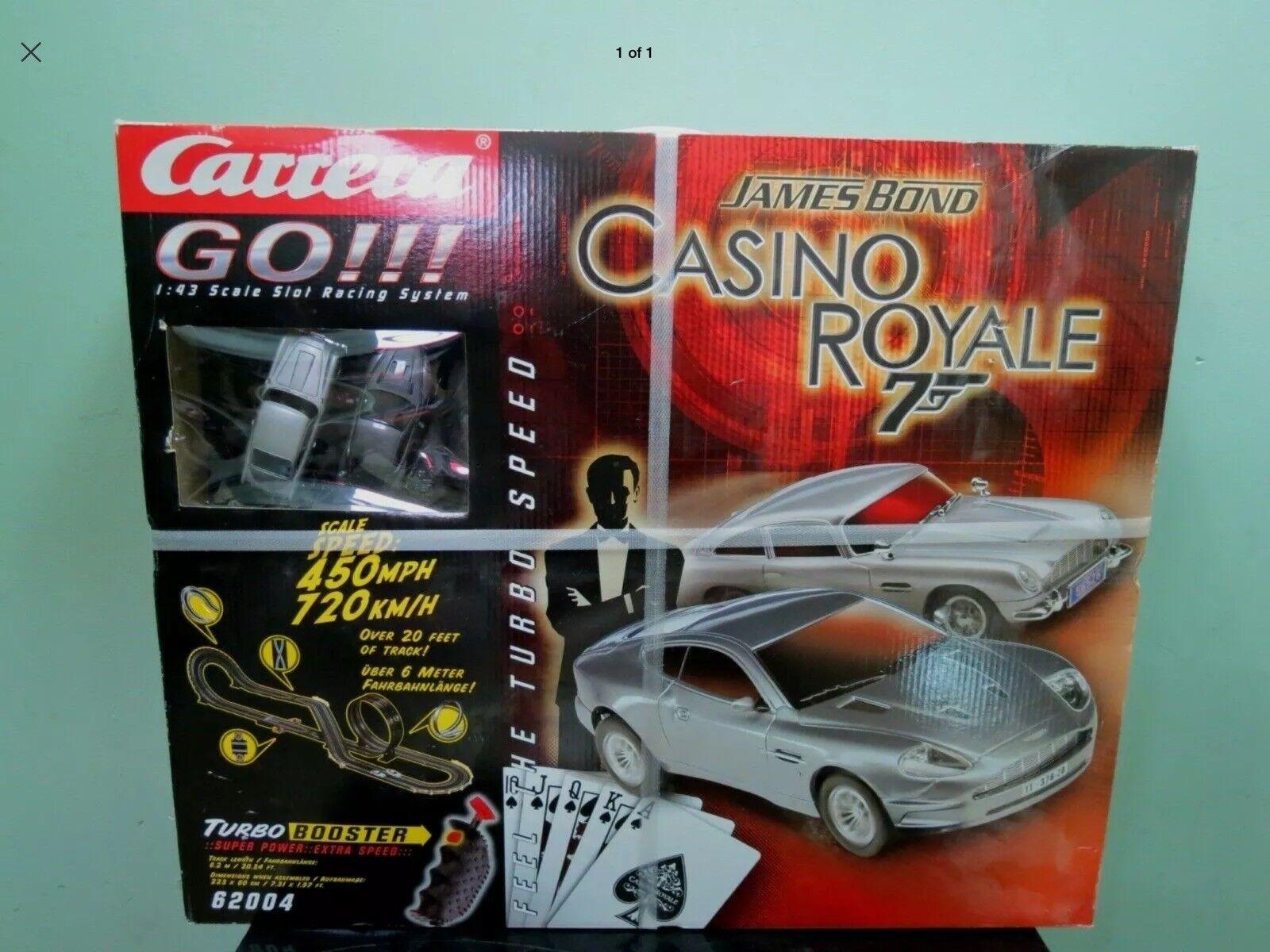 New Carrera Go   James Bond Casion Royal Slot Car System - 7E