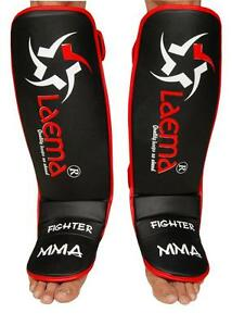 MORGAN SHIN INSTEP LEATHER PERMIUM GUARDS MMA FOOT PADS UFC BOXING MUAY THAI NEW