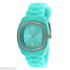 NEW TKO Orlogi Women's Tivoli Swarovski Crystal Turqoise Fashion Watch NIB