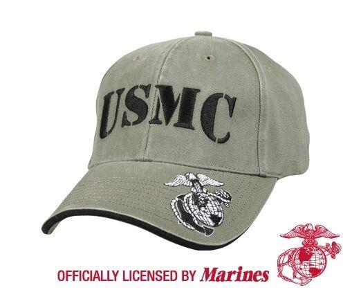 US Marine Corps Usmc Eag Globe & Anchor Ega Army Mütze Cap olive drab Hat