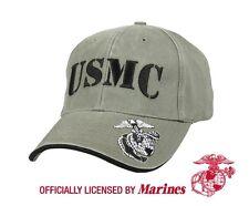 US MARINE CORPS USMC EAG GLOBE & ANCHOR EAG ARMY Mütze Cap olive drab Hat