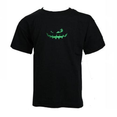 "KIDS Limited Edition /""GLOW in the DARK/"" Scary PUMPKIN boys T-Shirt HALLOWEEN"