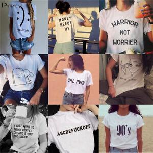 18e3e821 Unisex Funny T-shirt Women Men Short Sleeve Tumblr Tee Shirts Tops ...