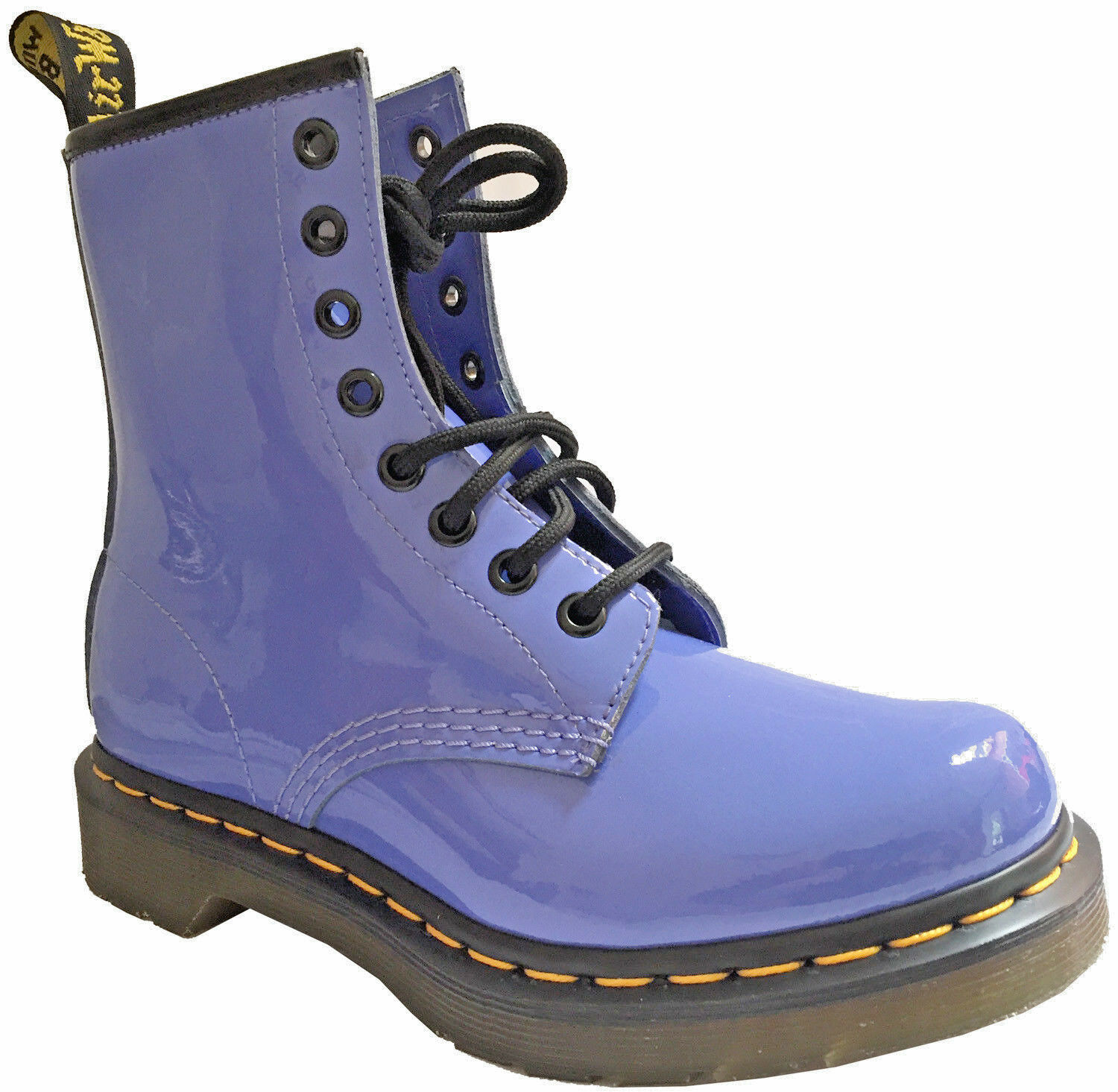 Womens Dr Martens Pastel Boots, Limited Edition Dusty bluee Patent Gloss UK 4 NEW