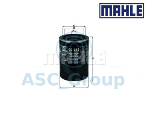 Genuine MAHLE Replacement Screw-on Engine Oil Filter OC 248 OC248