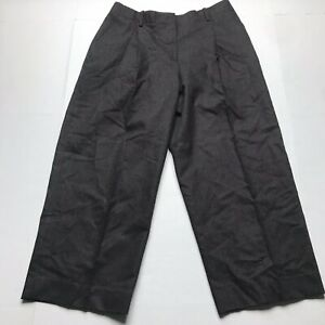 Lafayette-148-Dark-Brown-Wool-Cashmere-Blend-Wide-Leg-Dress-CROP-Pants-SZ-6-A526