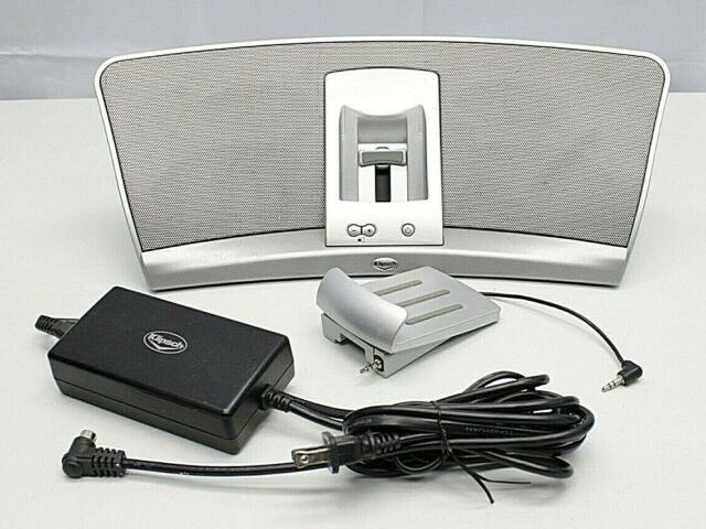 Klipsch Igroove Silver Ipod Audio Dock Speaker W Adapter Ac Cord No Remote For Sale Online
