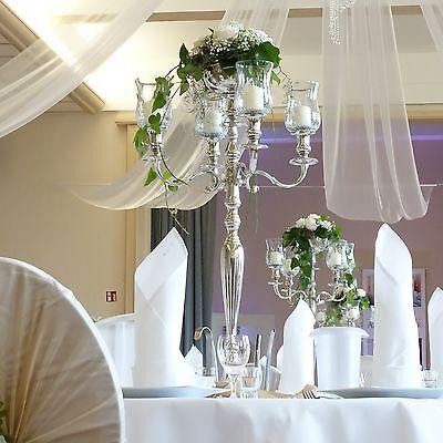 Kerzenleuchter Kerzenständer Event Silberleuchter vern. 30 40 50 63 77 cm Neu
