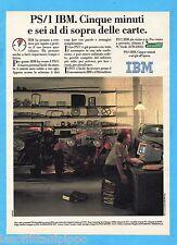 QUATTROR991-PUBBLICITA'/ADVERTISING-1991- IBM - PS/1