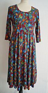H224 Himalaya vestido de viscosa Jersey Fairtrade otoño de colores