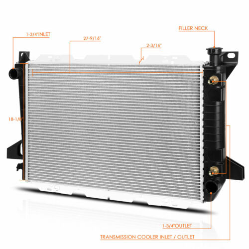 Aluminum OE Style Cooling Radiator for 85-96 Ford F150//F250//F350 4.9 AT DPI-1454