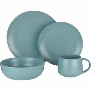 Image is loading Mainstays-16-Piece-Dinnerware-Set-Mineral-Blue-W  sc 1 st  eBay & Mainstays 16-Piece Dinnerware Set Mineral Blue W | eBay