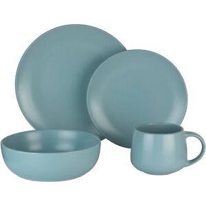 Image is loading Mainstays-16-Piece-Dinnerware-Set-Mineral-Blue-W  sc 1 st  eBay & Mainstays 16-Piece Dinnerware Set Mineral Blue W   eBay
