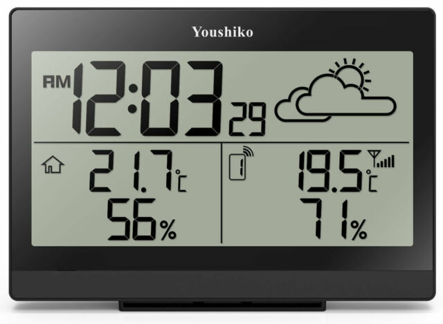 youshiko yc9350 digital weather station with wireless sensor and