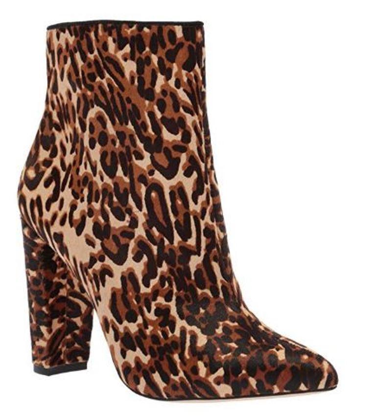 compra meglio Donna  scarpe Jessica Simpson Simpson Simpson TEDDI Ankle stivali avvioies Leather Fur Leopard  buona reputazione