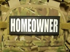 3x8 SHERIFF White on Black RAID Morale Plate Carrier Placard Patch Hook Backed