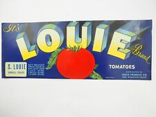 FAVORITE TOMATOES Vegetable Crate Label 1930s ORIGINAL McIntosh Florida O D Huff