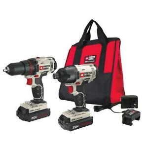 PORTER-CABLE-20V-MAX-Cordless-Drill-and-Impact-Driver-Combo-Kit-PCCK604l2