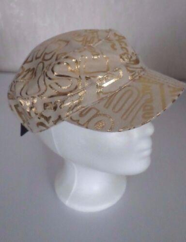 Sportliche Mütze mit Schild Schirmmütze  Kappe Cap Cappy Beige//Gold  NEU