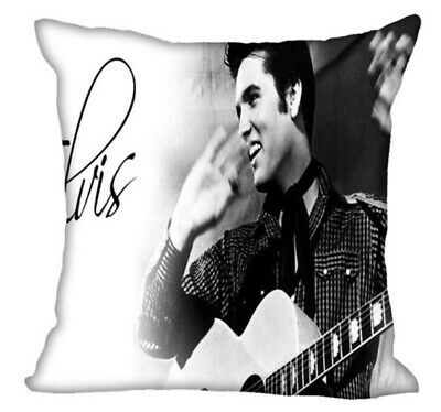Elvis Presley Cushion Pillow Cover Case Gift Silver Grey