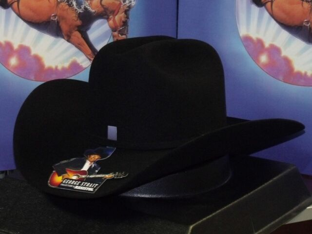 Resistol Mens George Strait Cowboy Rides Away Fur Felt Hat Black 7 3//8