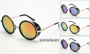 Vintage-Retro-Mirror-Round-SUN-Glasses-Goggles-Steampunk-Punk-Sunglasses-s