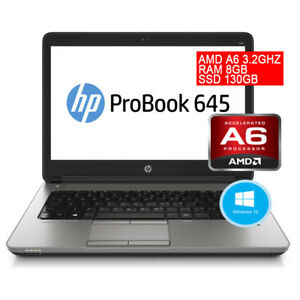 PC-PORTATILE-HP-PROBOOK-645-G1-RICONDIZIONATO-AMD-A6-RAM-8GB-SSD-3G-4G-WIN-10