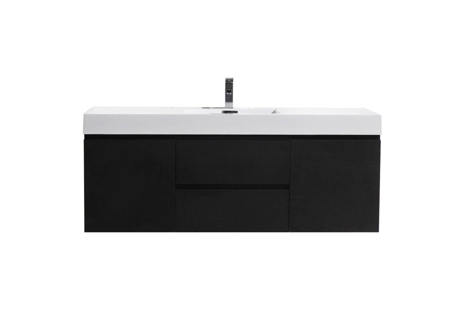 Moreno Bath 60 Bathroom Vanity Wall Mount Single Sink Black Cabinet For Sale Online