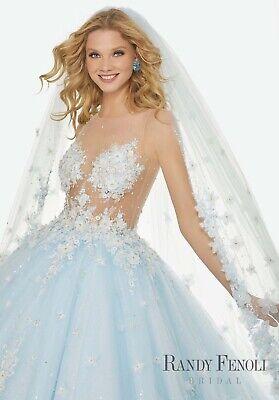Randy Fenoli Brandi Dress Blue Size 6