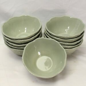 JCPenney-Chris-Madden-Adalina-Green-Soup-Salad-Bowls-6-75-034-Lot-of-11