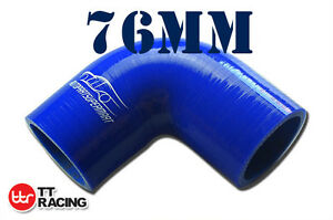 4PLY-Silicone-90-Degree-Elbow-Connector-Joiner-Turbo-Hose-76mm-3-034-inch-Blue