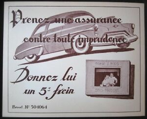 ORIGINAL-French-Auto-Advertising-Sign-with-1949-Oldsmobile-Car