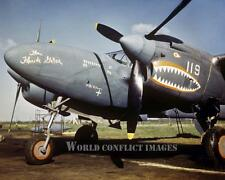 USAAF WW2 F-5 P-38 Fighter Florida Gator 8x10 Color Nose Art Photo 22nd PRS WWII