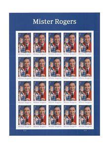 USPS-Mister-Mr-Rogers-one-Sheet-of-20-Forever-USPS-Postage-Stamp-Celebration