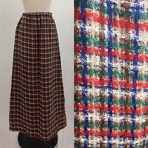 Vintage-60s-Adelaar-Textured-Maxi-Skirt-Size-Medium