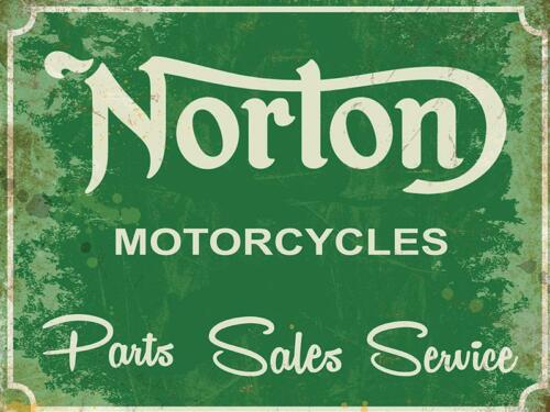 DS Norton Parts Sales /& Service  metal  wall sign 300 x 400 mm