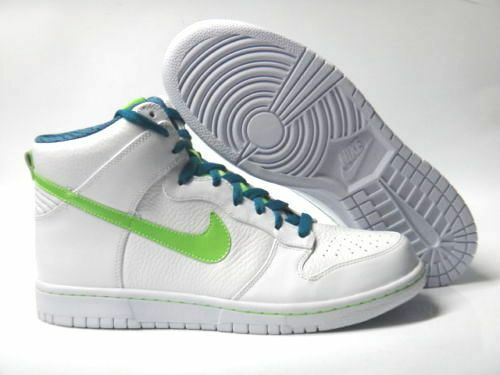 NIKE DUNK HIGH PREMIUM MEN'S - WHITE - MEN'S ELECTRIC GREEN BRAND NEW IN BOX SELECT SIZE cd4c06