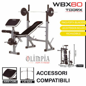 Toorx-WBX-60-PANCA-PESI-RICHIUDIBILE-INCL-PIANA-PORTA-DISCHI-SUPPORTI-BILANCIERE