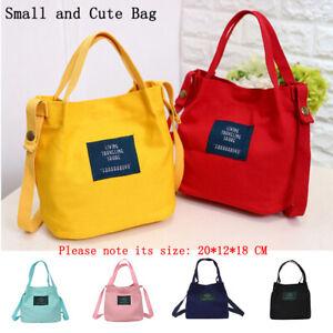 New-Women-039-s-Canvas-Black-Handbag-Shoulder-Messenger-Bag-Satchel-Tote-Purse-Bags