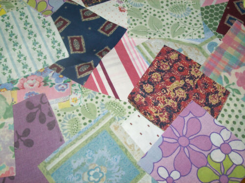50 Striking Retro Vintage 10cm Cotton Fabric Sewing Patchwork Quilting Squares