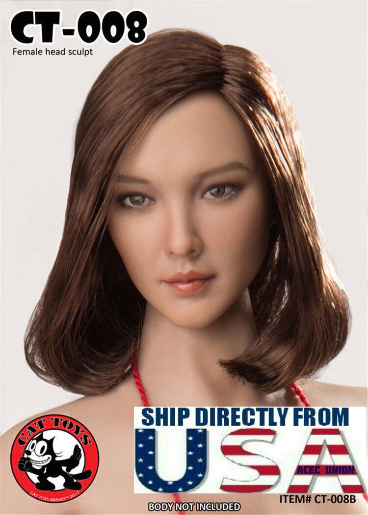 1 6 Scale Female Head Sculpt American CT008B For PHICEN Hot Toys Figure U.S.A.