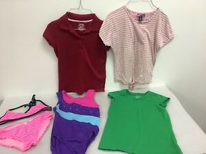 Lot-Of-Girls-Tops-and-bathing-suits-Size-10-12-Short-Sleeve-IZOD-Old-Navy