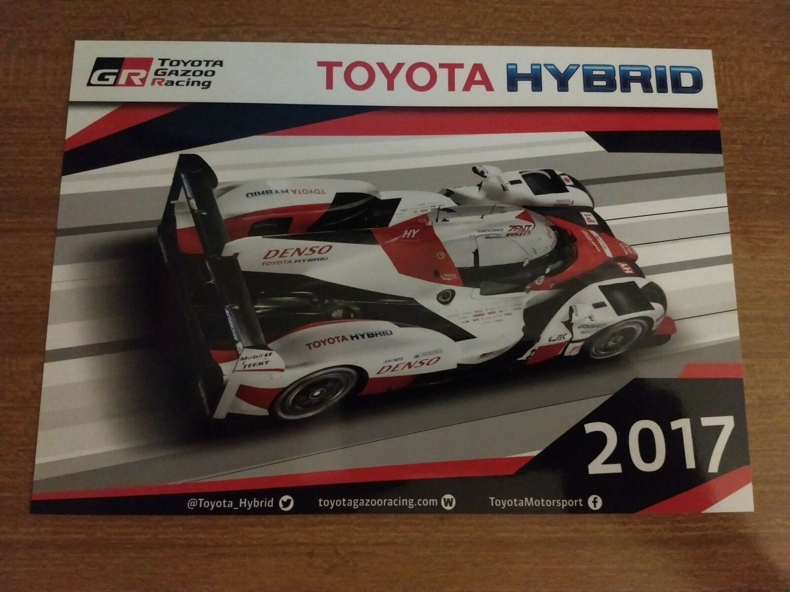 TOYOTA TOYOTA TOYOTA TS 050 HYBRID GR TEAM FIA WEC 2017 PROLOGUE MONZA WITH SIGNATURES afbb3c