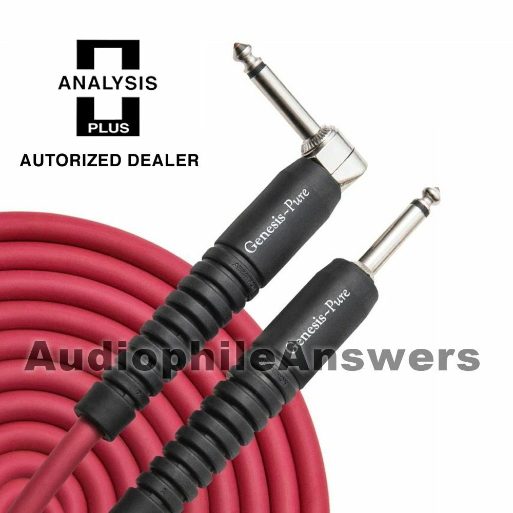 Analysis Plus Genesis Pure RED Instrument Cable Straight to 90 Deg. Plugs 40ft