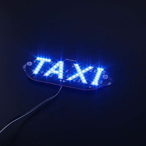 TAXI inside windscreen Led Sign Windshield TAXI Light Choice of Colours UK BASED
