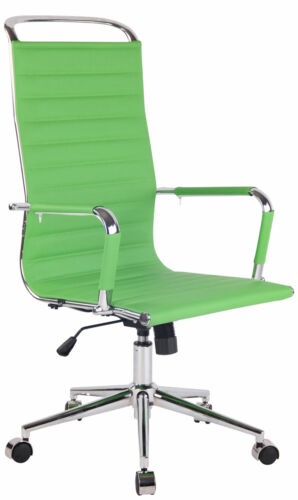 Bürostuhl Barnes Kunstleder Schreibtischstuhl Echtleder verstellbarer Drehstuhl