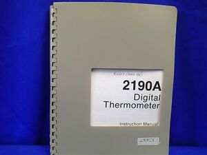 Thermometer fluke 2190a user's manuals in pdf.
