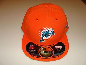 New Era Hat Cap NFL Football Miami Dolphins A 7 1 8 59fifty 2012 ... dca1173b1